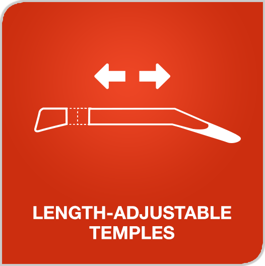 Length Adjustable Temples