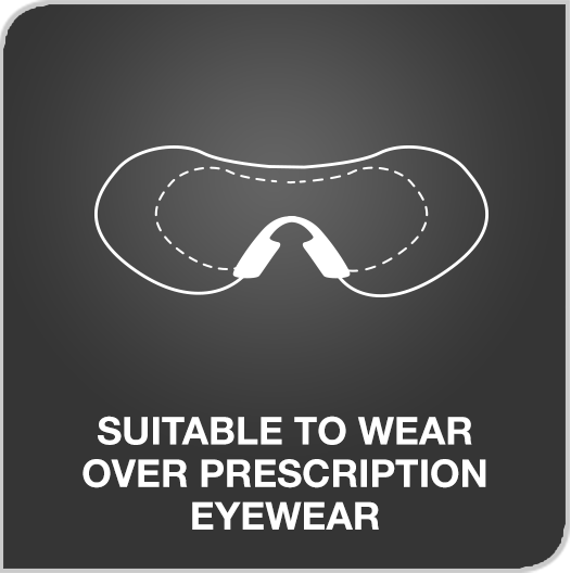 Suitable to wear over prescription eyewear